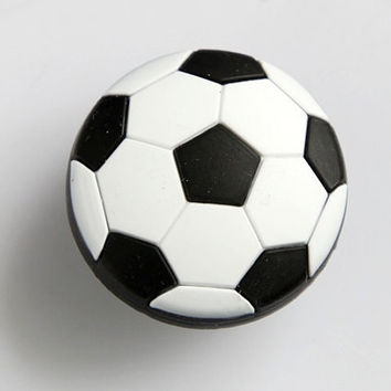 Kids Dresser Drawer Knobs Pulls Handles Football Soccer Black White / Nursery Baby Cartoon Knob Pull Handle Hardware Girls Boys Room