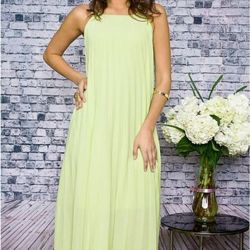 She's A Pistol Lime Maxi Dress