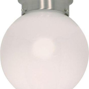 "Nuvo 60-432 - 8"" Flush Mount Globe Ceiling Light in Brushed Nickel Finish"