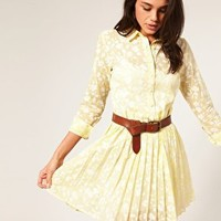ASOS | ASOS Floral Embroidered Shirt Dress at ASOS