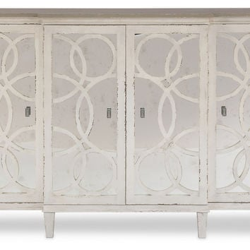 "Credenza Gabriella Mirrored 64"" Quartz, Buffets & Sideboards"