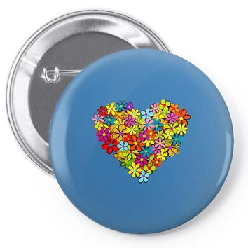 color flower Pin-back button