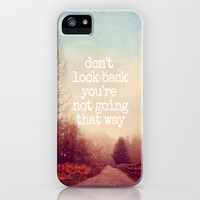 dont look back iPhone Case by Sylvia Cook Photography