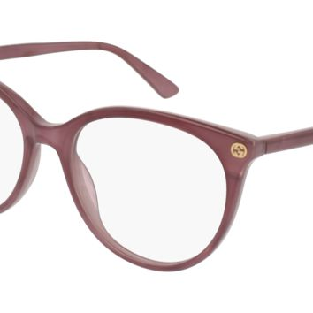 Gucci - GG0093O-004 Pink Eyeglasses / Demo  Lenses