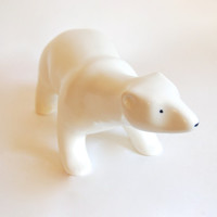 Arabia Finland Polar Bear Richard Lindh Vintage Modernist Minimalist Animal Figurine Sculpture Collectibles Home Decor Wedding Gift