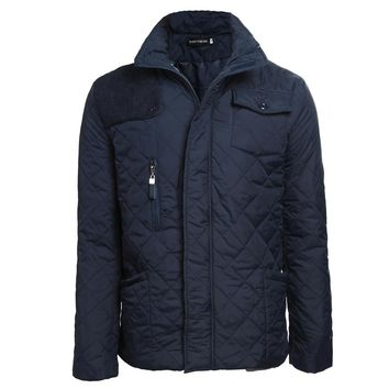 Mens Quilted Jacket Multi-Packets Causal Bussiness Style Stand Collar Pilot Jackets and Coats Costume
