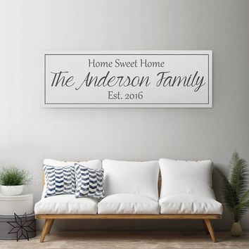 Last Name Canvas - A Personalized Family Sign