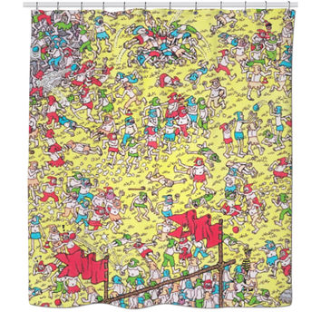Where's Waldo shower curtain