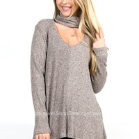 Perry Grey Ribbed Top