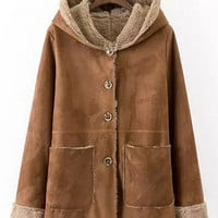Brown Hooded Coat
