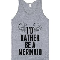 I'd Rather Be A Mermaid Tank Top Id7141858-Athletic Grey Tank