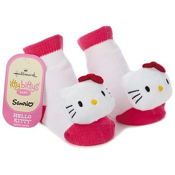 Hallmark Itty Bittys Hello Kitty Baby Rattle Socks New Tags