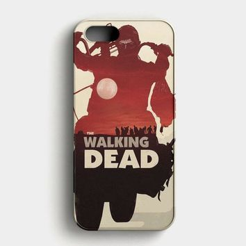 The Walking Dead America Flag iPhone SE Case