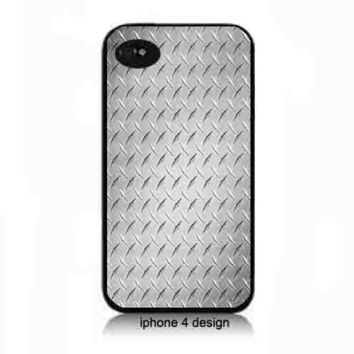 Silver Diamond Plate Design  Iphone 4/4s cell phone case, Iphone case, Iphone 4s case,