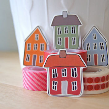 House Magnets from Scandinavian Print - Kitchen Home Decor - Set of 4