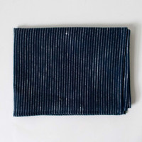 Fog Linen Work Thick Kitchen Cloth Navy Pinstripe