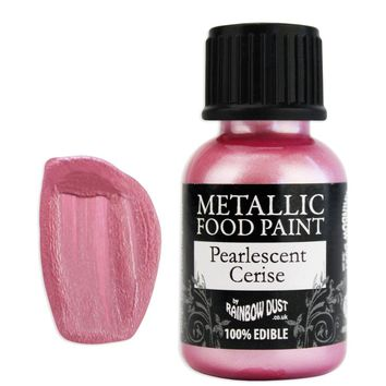 Cerise Pearlescent Edible Paint RD