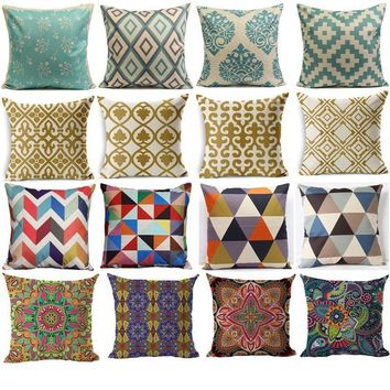 Bohemian Geometric Pillowcases