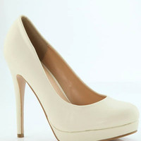 Walk This Way Heel - Cream