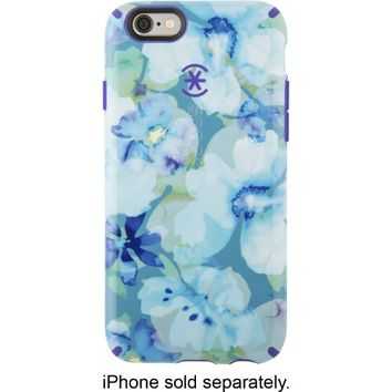 Speck - Inked Hard Shell Case for Apple® iPhone® 6 - Aqua Floral Blue/Ultraviolet Purple