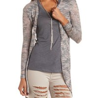 Marled Aztec Duster Cardigan by Charlotte Russe