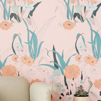 Willa Wildflower Removable Wallpaper | Urban Outfitters