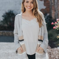 Book Worm Cardigan, Grey