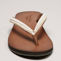AEO Beaded Flip-Flop | American Eagle Outfitters