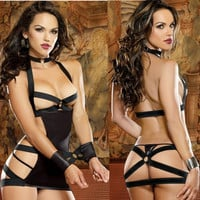 Sexy On Sale Hot Deal Cute Plus Size Hollow Out Uniform Exotic Lingerie [6596827395]