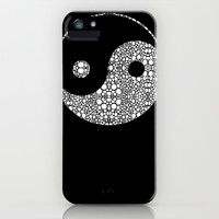 Perfect Balance 2 - Yin and Yang Stone Rock'd Art by Sharon Cummings iPhone & iPod Case by Sharon Cummings