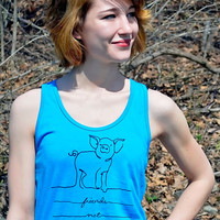 Pig Friend Not Food Tank Top