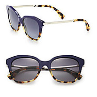 Fendi - Colorblocked 52MM Wayfarer Sunglasses - Saks Fifth Avenue Mobile