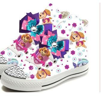 PAW PATROL Birthday Party Shoe for Girls (CONVERSE)