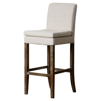Chandler Linen Barstool, Beige, Bar & Counter Stools