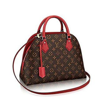 ESB2N Authentic Louis Vuitton Monogram Canvas ALMA B'N'B Bag Handbag Red Article: M41779 Made in France