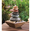 Zen Stacked Stone Water Fountain