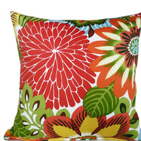 Decorative Throw Pillows Bright Colorful MOD by PillowThrowDecor