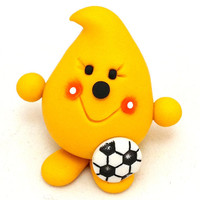 SOCCER PARKER - Sports Series - Polymer Clay Character Figurine or Ornament
