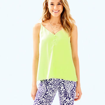 Lailah Cami | 30477-celery | Lilly Pulitzer
