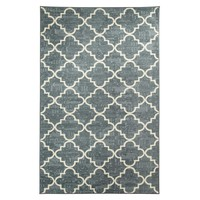 Fancy Trellis Rug - Grey