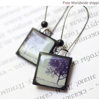 Winter Trees earrings  Winter jewelry  Cyber monday by BeautySpot