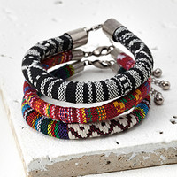 Southwestern-Embroidered Bracelet Set