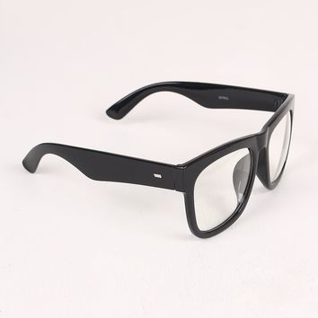 Thick Frame Clear Lenses Wayfarer Glasses