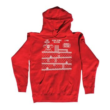 Funny Donkey Kong Santa Ugly Christmas Sweater Mens Pullover Hoodie
