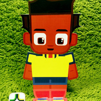 Ecuador football soccer craft activity. Printable paper toy. Instant download. Make you own cards, banners and football soccer bunting!
