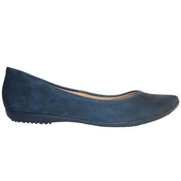 VONES2C Chelsea Crew Grace - Blue Slip-On Pointy Toe Flat