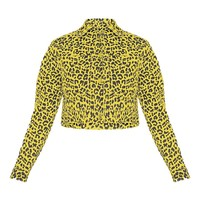 Yellow Leopard Denim Jacket