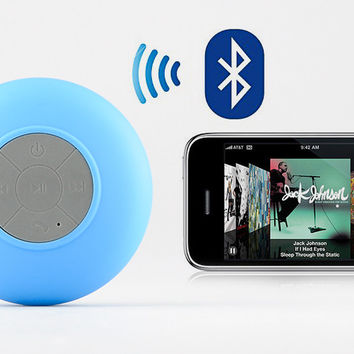 Bluetooth Shower Speaker 'AquaSound' - Water Resistant, Built-in Microphone, Suction Cup, Music Control, Call Answering