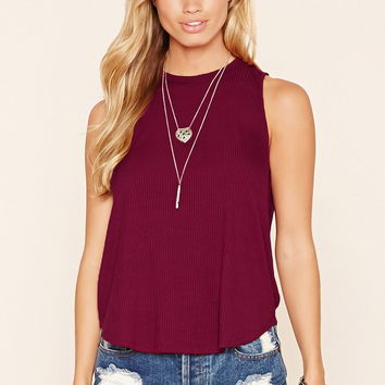 Ribbed Keyhole Top