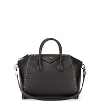 Antigona Medium Studded Satchel Bag, Black - Givenchy